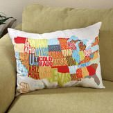 love this us map design on a pillow.