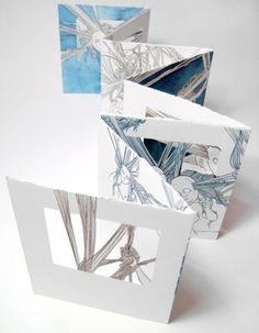 Concertina Book, Accordion Book, Up Book, Book Art, Art Zine, Book Sculpture, Paper Sculptures, Middle School Art, High School