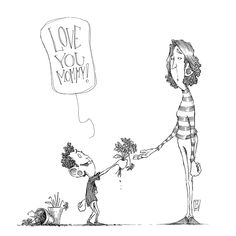 Love you mommy! by Ripplen
