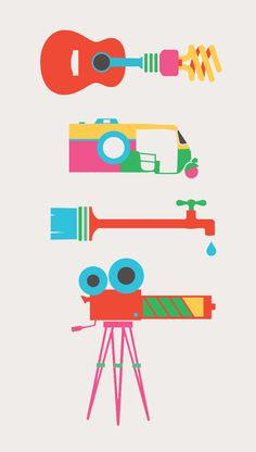 Create to inspire (Nokia & Oxfam) by Khyati Trehan, via Behance #flat #design #illustration
