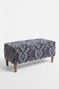 Again Urban Outfitters lets us incorporate a trend without spending lots of cash: this tonal storage bench is a good height for the kitchen/dinner table, hallway or ottoman hiding cozy TV blankets.