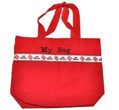 Bacon Tote Bag. This Bag Is Ready To Ship Now. Kids Tote Bag, Swin Bag, Toy Bag, Boy Tote Bag. I Love Bacon Bag