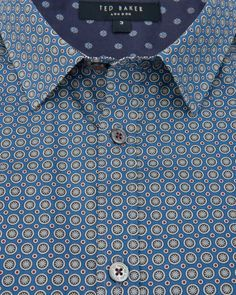 Circle print shirt - Navy | Shirts | Ted Baker