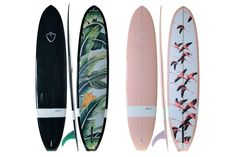 Whether they're in the waves or on the wall, these high-design surfboards are works of art