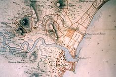 Old map of Singapore, 1825