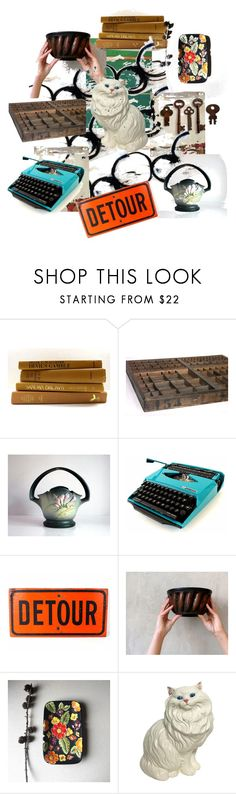 """""""The Vintage Detour"""" by throwitforward ❤ liked on Polyvore featuring interior, interiors, interior design, home, home decor, interior decorating, vintage, etsy and homedecor"""
