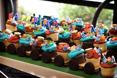 Thomas the Train cupcakes- Maybe for Miles birthday! :)