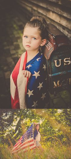 A Fourth of July themed session from AOC Photography featured on OneCharmingFamily.com