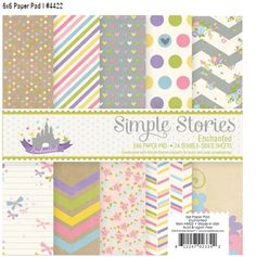 Enchanted - the enchanting new collection from Simple Stories - 6x6 paper pad #simplestories #enchanted