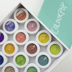 ColourPop Eyeshadow, they're filled with SO much color and look super pigment. Best Of Colourpop, Colourpop Eyeshadow, Colourpop Cosmetics, Makeup Cosmetics, Morphe, Colour Pop, Swatch, Skin Makeup, Eyeshadow Makeup