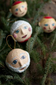 DIY Papier Maché Ornaments.