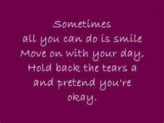 sometimes all you can do is smile...