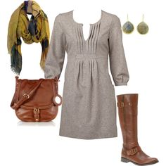 Cute winter dress!