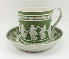 Wedgwood Dancing Hours Green Jasper Cup & Saucer
