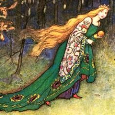 Illustration by Warwick Goble --  The Frog Prince