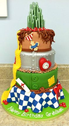 Both kids like Amazing Wizard of Oz Cake