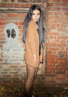 Dark silver hair color