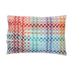SS16 Electric Tartan Cotton Pillow Case