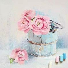 German artist Lenokdih chalk drawing - Page 14 of 27 - Zeichnen, Malen & mehr - Chalk Art Soft Pastel Art, Chalk Pastel Art, Pastel Artwork, Pastel Drawing, Chalk Pastels, Painting & Drawing, Drawing Flowers, Soft Pastels, Encaustic Painting