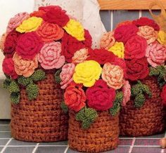 knitted roses