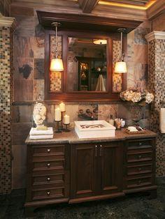 Bathroom remodel ideas on pinterest traditional bathroom for Adirondack bathroom design
