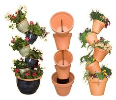how to make Terra Cotta Pots stacked
