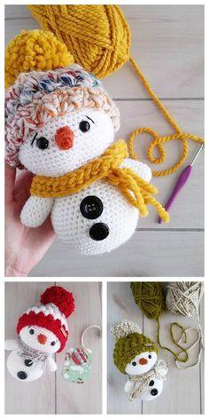 All free amigurumi crochet patterns and tutorials. Crochet Patterns Amigurumi, Crochet Blanket Patterns, Crochet Dolls, Crochet Gifts, Cute Crochet, Crochet Beanie, Crotchet, Crochet Christmas Decorations, Free Christmas Crochet Patterns