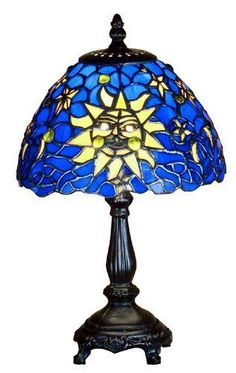 Table Lamps  Meyda Tiffany Sun Moon  Stars Mini Table Lamp 47982 ** This is an Amazon Associate's Pin. Clicking on the image will lead you to the Amazon website.