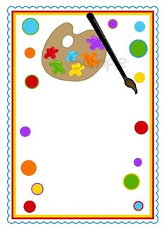 moldura convite festa pintando o sete
