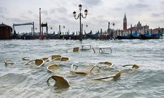 Unusually high water levels in Venice. More than 70% of Venice has been been left flooded 2012