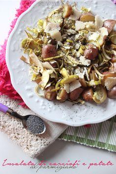 Insalata di carciofi e patate al parmigiano http://simolovecooking.blogspot.it/2014/02/insalata-di-carciofi-e-patate-al.html