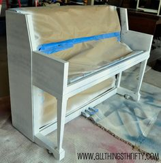 How to paint a piano. Excellent step by step instructions.