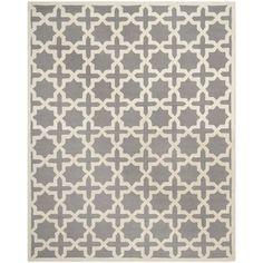Safavieh Handmade Moroccan Cambridge Silver Wool Rug (8' x 10') | Overstock.com Shopping - Great Deals on Safavieh 7x9 - 10x14 Rugs