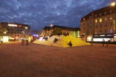 Modificando temporalmente la ciudad: espacios urbanos experimentales en Aarhus, Dinamarca,The Plaza / Schønherr. Image © Martin Schubert