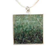 Emerald Pendant - Mosaic Jewelry