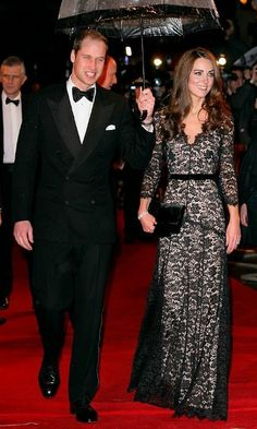 Kate wore a black lace number by the British designer to the premiere of <i>War Horse</i> in 2012.    Photo: Indigo/Getty Images