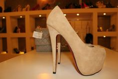 can't say no to these suede heels    .