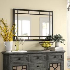 Birch Lane Heritage Whalen Traditional/Modern and Contemporary Accent Mirror Bathroom Colors, Bathroom Sets, Modern Bathroom, Bathroom Mirrors, Cozy Bathroom, Bathroom Bin, Mirrors Wayfair, Beveled Mirror, Modern Contemporary