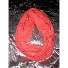 Coral Infinity Scarf Coral infinity scarf. Good condition Accessories Scarves & Wraps