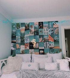 Cute Bedroom Decor, Room Ideas Bedroom, Bedroom Inspo, Beachy Room Decor, Teen Bedroom, Tumblr Bedroom, Teenage Bedrooms, Diy Bedroom, Modern Bedroom