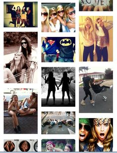 Cute bestfriend picture ideas!! I so doing most of these with my BFF! ✌❤