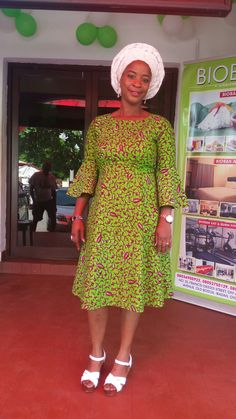 Ankara gown embellished with stones