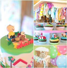 Charlie Brown Themed 1st Birthday Party with So Many Really Cute Ideas via Kara's Party Ideas KarasPartyIdeas.com #charliebrownparty #snoopy...