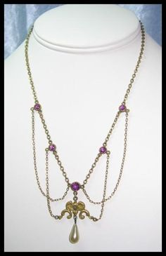 Art Nouveau Festoon Necklace