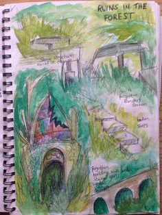ideas for the kind of ruins in the forest