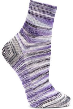 Missoni - Striped Crochet-knit Socks - Purple - M