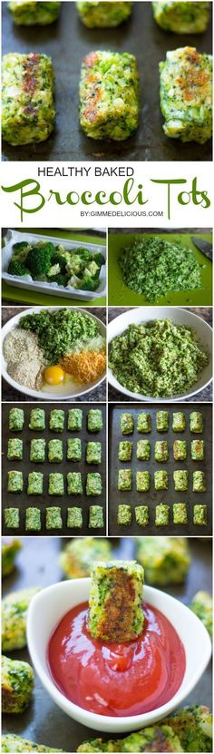 Healthy Baked Broccoli Tots are the perfect low-fat snack for you and your kids. This also makes a great appetizer during your summer BBQ's. #foodbloggers #lbloggers #healthyfood