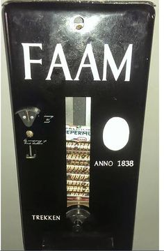 Snoep automaat - Rolletje snoep trekken.