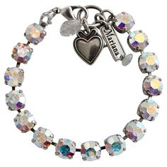 Mariana Silver Plated Classic Shapes Swarovski Crystal Bracelet, 7.5. Available at www.regencies.com