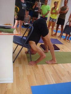 1000 images about iyengar yoga chair forward bends on